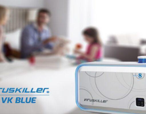Viruskiller VK Blue - портативный очиститель воздуха вирусов и бактерий